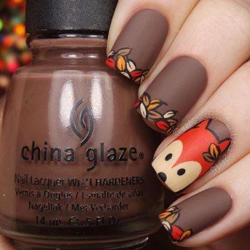 braon u kombinaciji sa jesenjim motivima