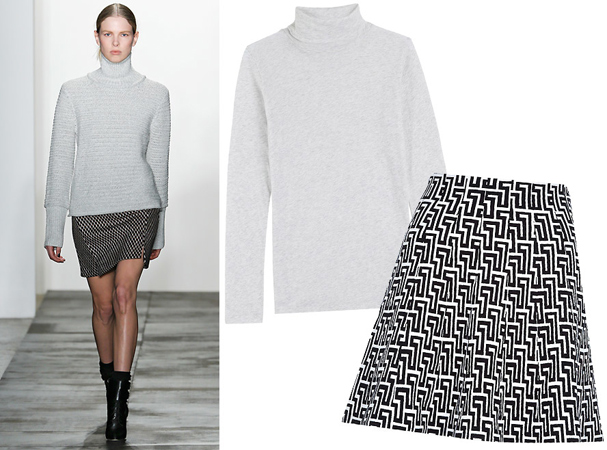 Rolka i mini suknja sa printom