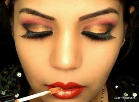 crvenkasto zlatni makeup