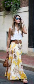 maksi suknja sa cvetnim printom