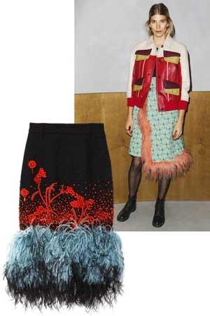suknja sa perjem