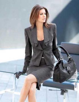 suknja sako i rukavice