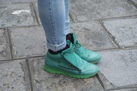 zelene patike sa ziperom