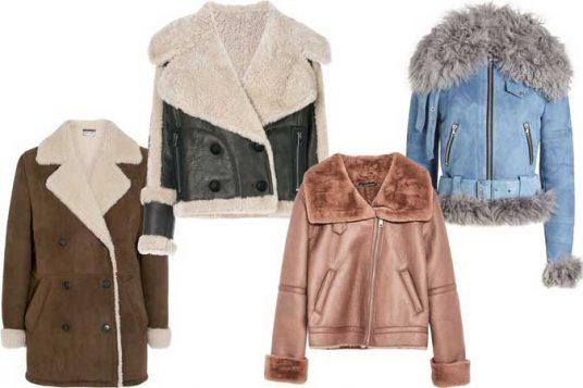 shearling jakne