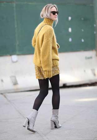 Široki džemper, šortc