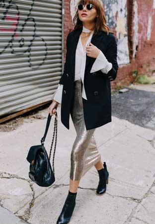 Oversize blejzer, olovka suknja
