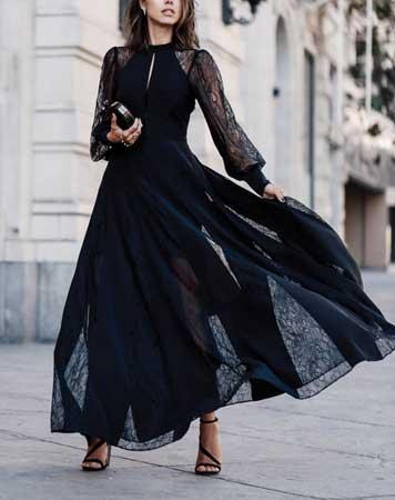 Za niske dame – Lepršava maksi haljina