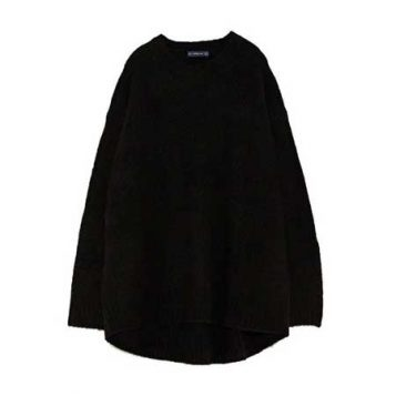 oversized crni dzemper