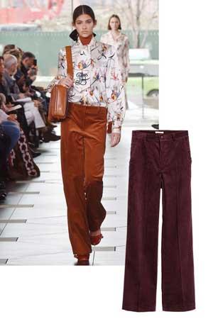 Somotske pantalone širih nogavica
