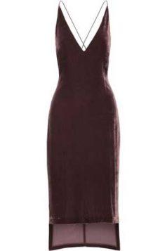 bordo asimetricna haljina