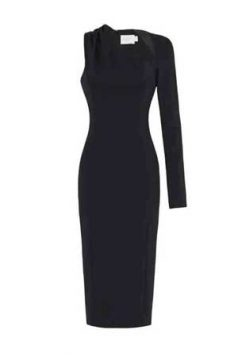 crna haljina sa jednim rukavom