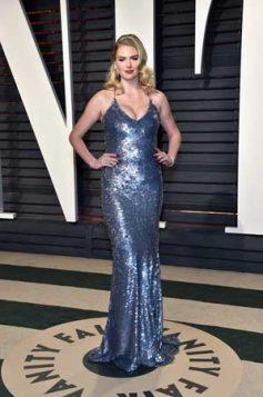 duga plava sequin haljina