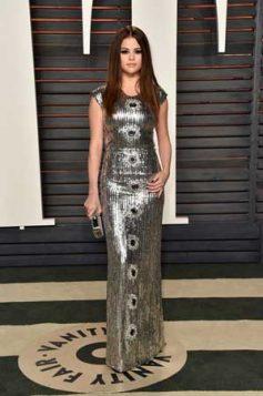srebrna sequin haljina
