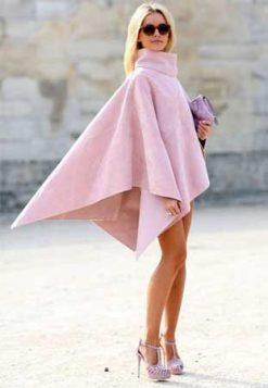 svetlo roze ponco