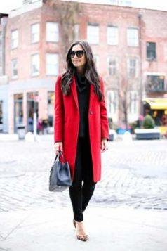 elegantni crveni kaput