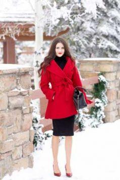 crveni kaput na preklop