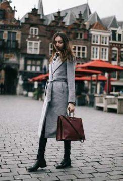 sivi kaput na preklop