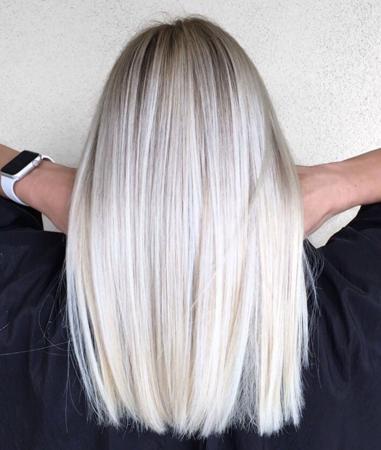 duga ledeno plava kosa