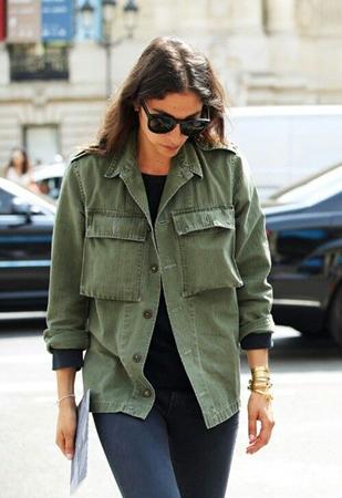 maskirno zelena kosulja jakna