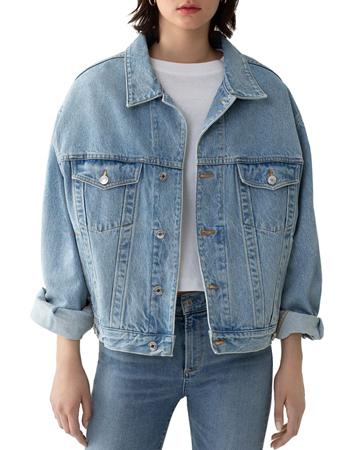 oversized teksas jakna