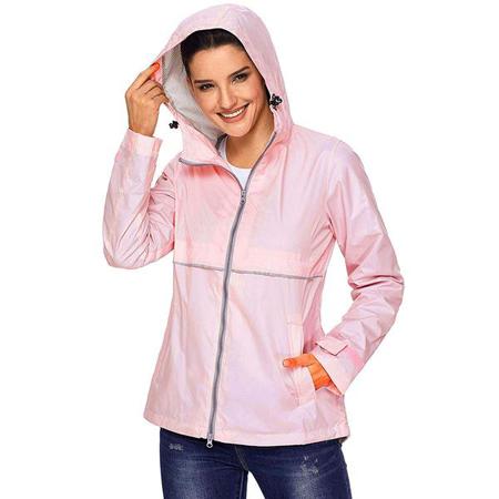 roze vodootporna jakna