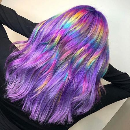 holographic boja kose- jarke i pastelne boje