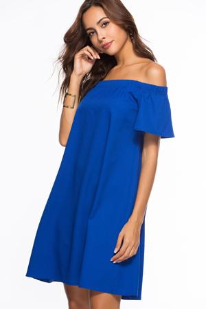 boje za leto - plava haljina