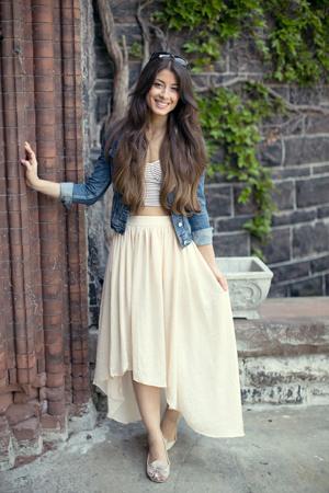 kratke teksas jakne- svecanija suknja