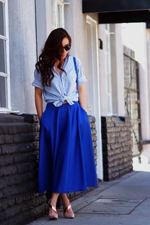 boje za leto - plava suknja