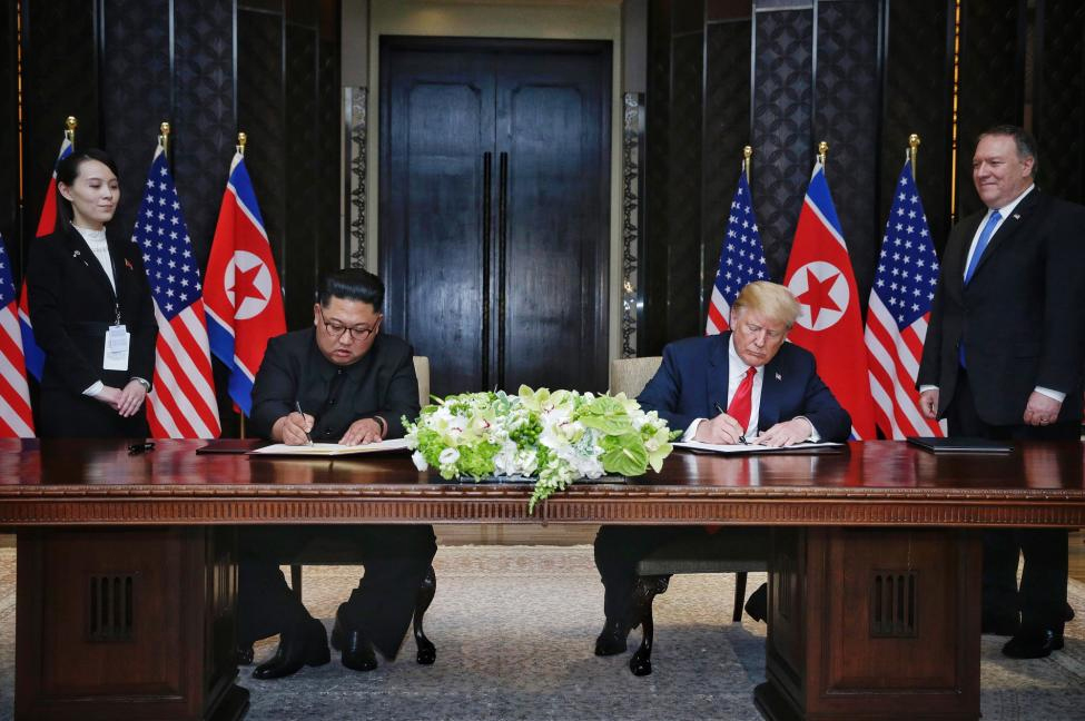 Kim Yo Jong sa Trampom