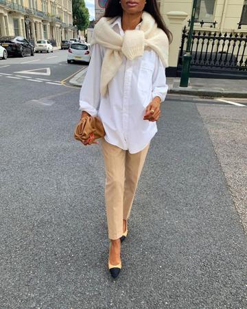 modni trendovi za prelazni period bela kosulja