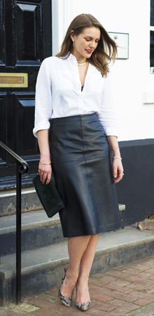 bela kosulja uz suknju